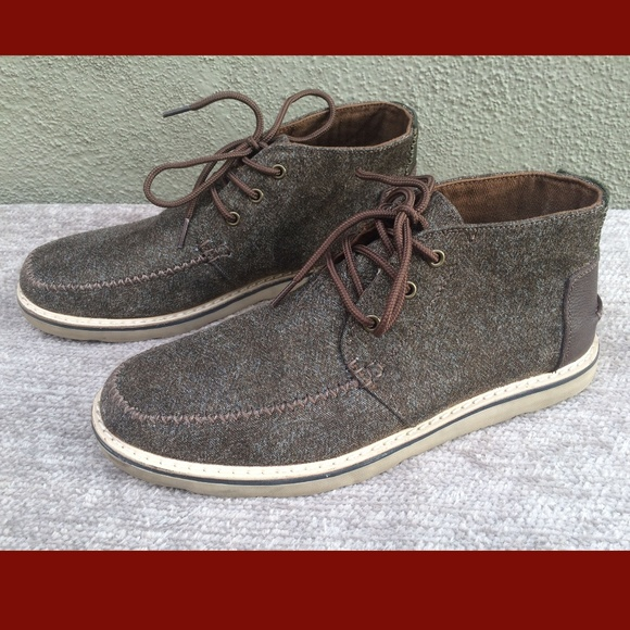 e133409a8a9 Toms Chocolate Brown Brushed Wool Chukka Boots